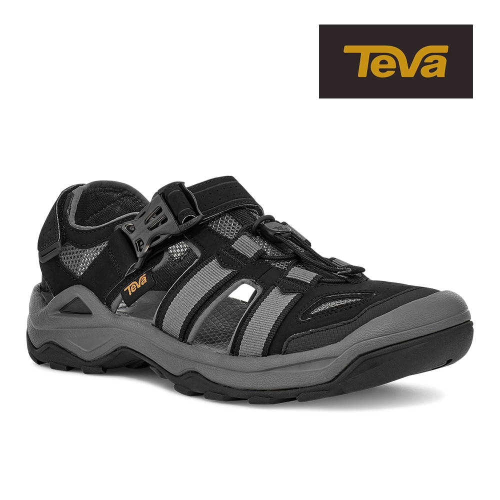 【TEVA】原廠貨 男 Omnium 2 護趾水陸機能涼鞋/雨鞋/水鞋(黑色-TV1019180BLK)