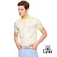 【Lynx Golf】男款滿版雲朵印花短袖POLO衫-芥黃色 product thumbnail 2