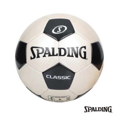 SPALDING 經典 足球 黑/白 #5