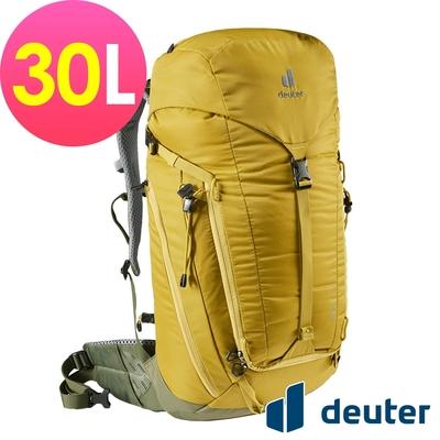 【deuter 德國】TRAIL 30L輕量拔熱透氣背包3440521薑黃/戶外休閒包/健行包/登山包*