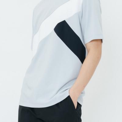 H:CONNECT 韓國品牌 男裝-幾何畫破圖像上衣-藍