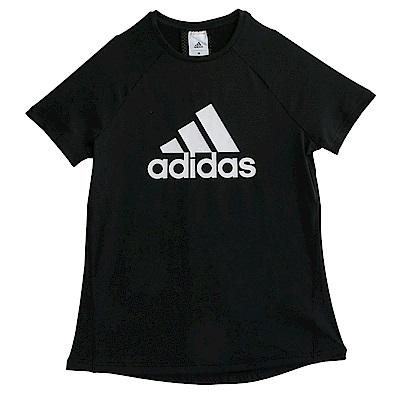 Adidas D2M LOGO-短袖上衣-女