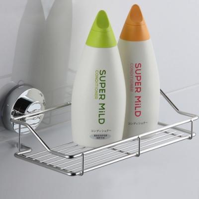 幸福揚邑旋鎖式吸盤不鏽鋼廚房浴室方型收納置物架