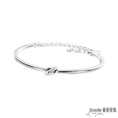 J'code真愛密碼 結伴純銀女手環