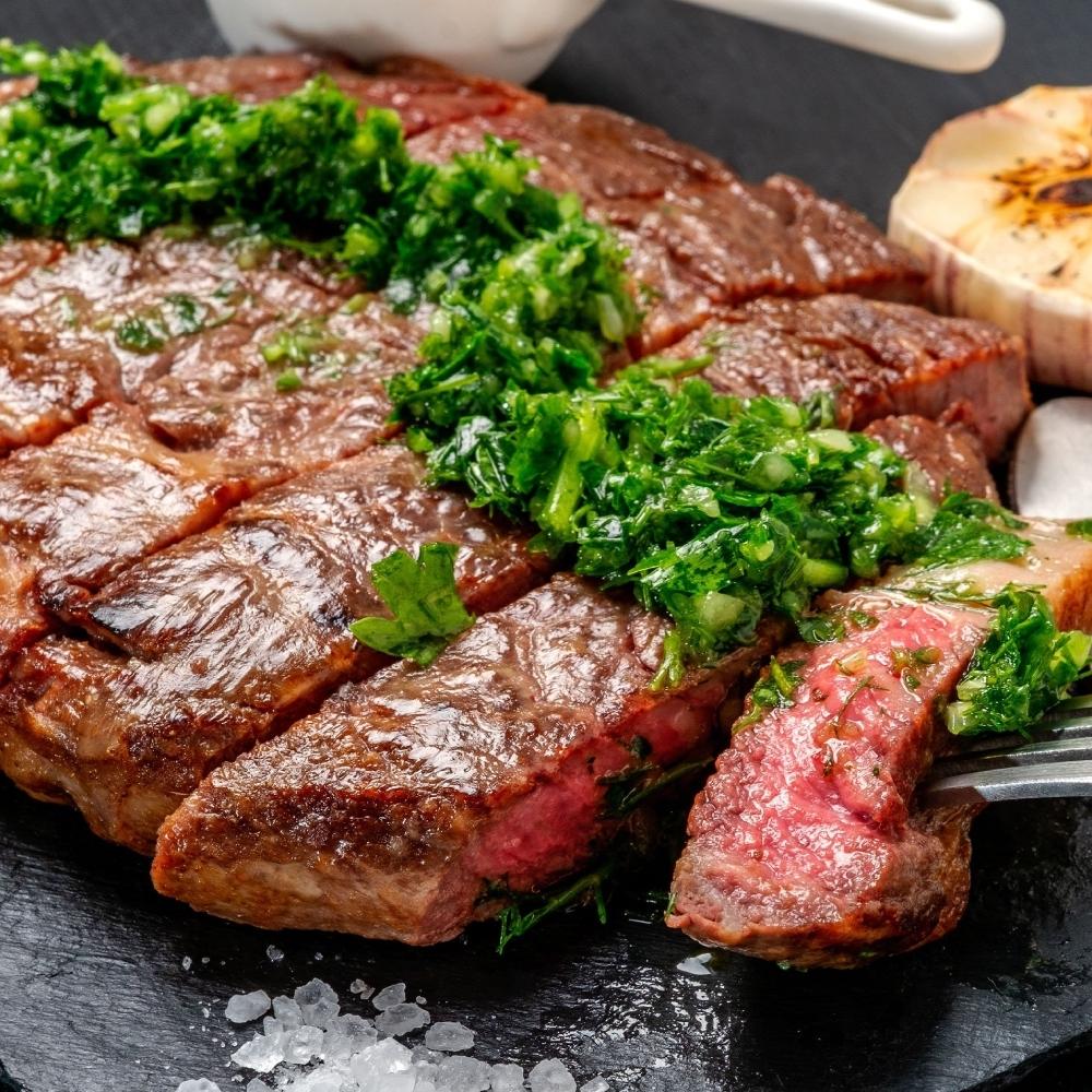 (滿額) (買一送一)豪鮮牛肉 全天然草原牛嫩肩沙朗牛排1片(200公克±10%/片)