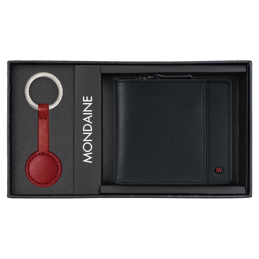 MONDAINE 瑞士國鐵 八卡零錢包短夾+紅秒針鑰匙圈禮盒組 product image 1