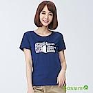 bossini女裝-印花短袖T恤07海藍