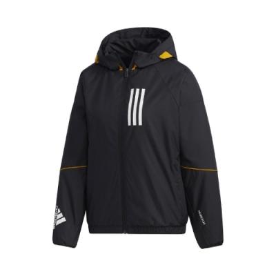 adidas 外套 W.N.D. Warm Jacket 女款 愛迪達 三線 防風 風衣 內刷毛 保暖 黑 白 GF0191