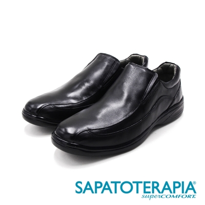 SAPATOTERAPIA(男)PRETO輕量厚底皮鞋 男鞋-黑