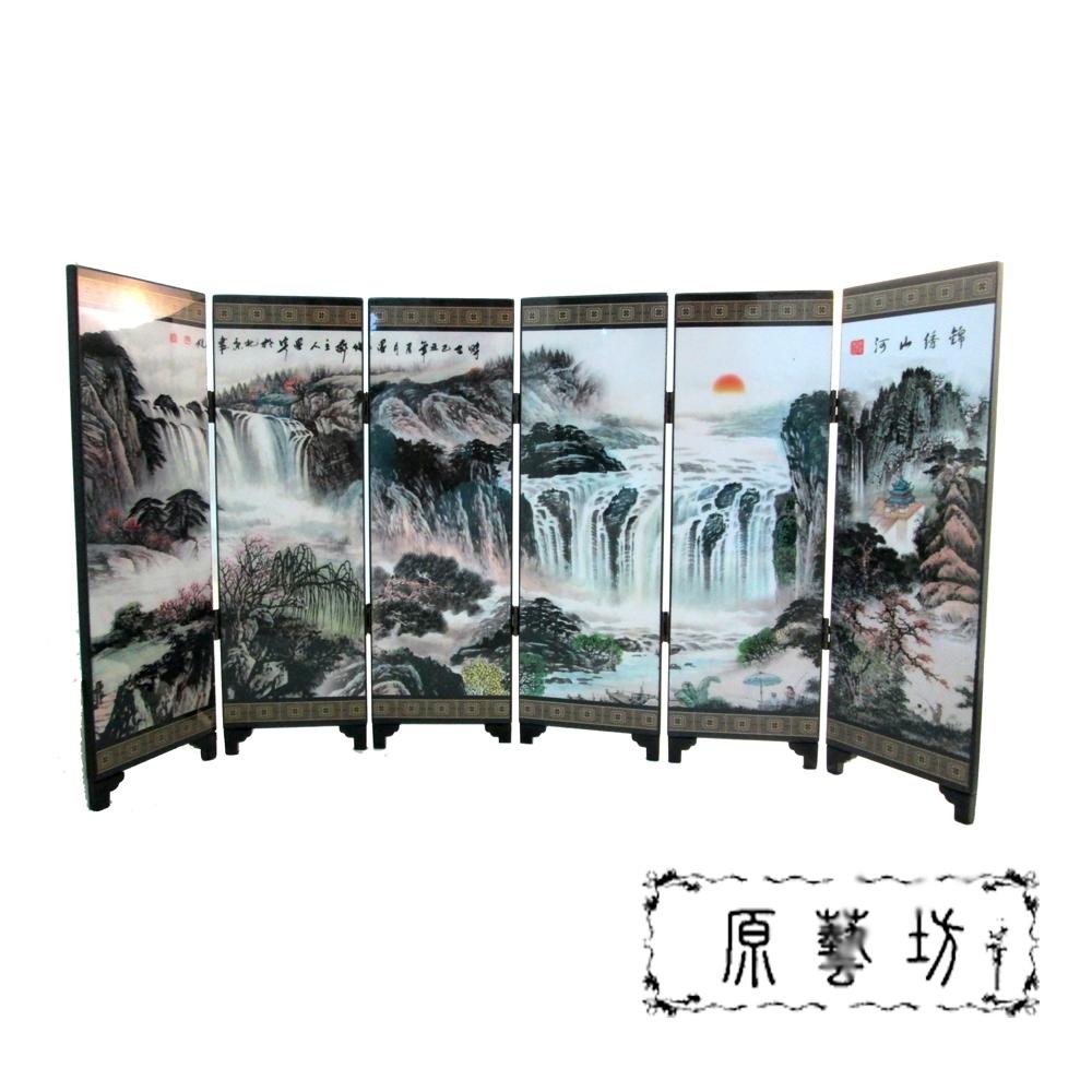 【原藝坊】錦綉山河 六片組中國式桌上屏風