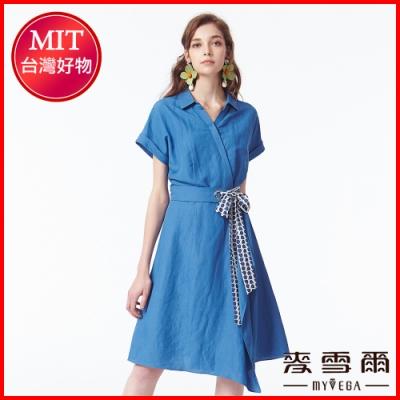 麥雪爾 純色簡約風一片裙長洋裝