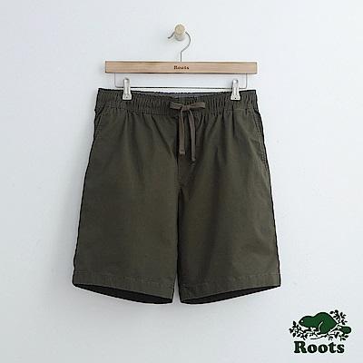 男裝Roots 基本款平織短褲-綠