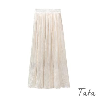 雪紡細壓摺裙面長裙 共二色 TATA-F