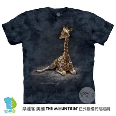 摩達客-美國進口The Mountain 長頸鹿寶寶 純棉環保藝術中性短袖T恤