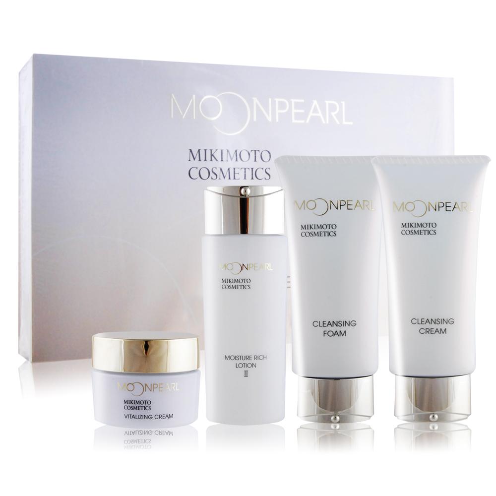 MIKIMOTO MOONPEARL珍珠精緻旅行組(II)[潔膚霜+洗面乳+化妝水+滋養霜
