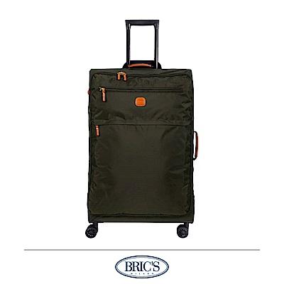 BRICS 義大利 25吋 超輕量 小牛皮防水布箱 橄欖綠
