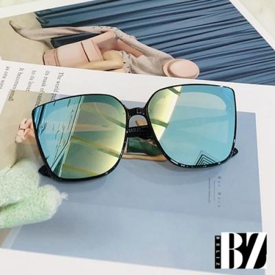 BeLiz 一體方框 潮流炫色太陽墨鏡 水銀藍