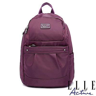 ELLE Active 優雅隨行系列-防盜 後背包-小-紫色