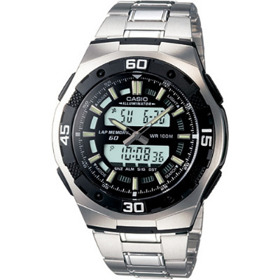 CASIO 城市遊俠運動雙顯錶-黑(AQ-164WD-1A)/43.5mm