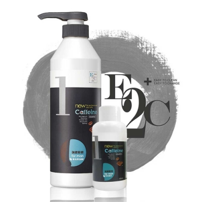 E2C美肌殿堂 咖啡因1號強健髮根洗髮精(買大送小) 600ml +100ml