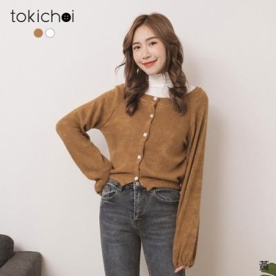東京著衣 換季必備質感排釦大圓領小外套(共二色)