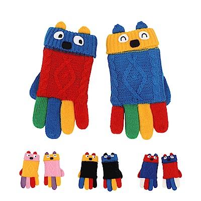 WHY AND 1/2 普普熊針織手套 多色可選