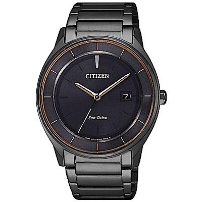 CITIZEN 星辰光動能極簡風尚手錶(BM7407-81H)-灰X黑/40mm