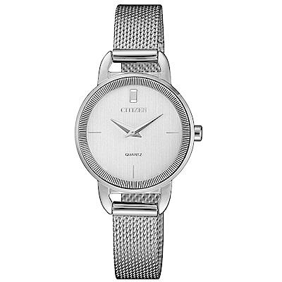 CITIZEN星辰LADYS簡約時尚米蘭帶腕錶/EZ7000-50A