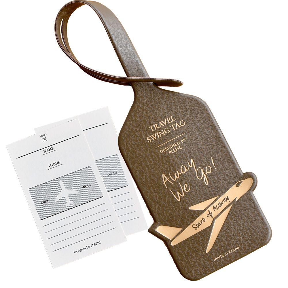 PLEPIC 啟程吧皮革旅行吊牌-法式棕