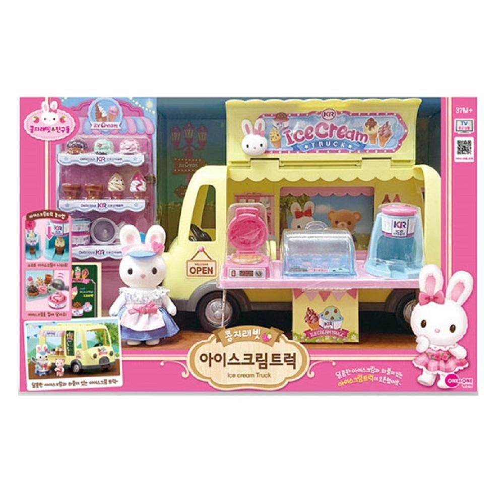 韓國 動物公仔 兔寶家族  兔子 冰淇淋小舖