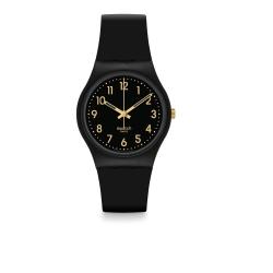Swatch 原創系列 GOLDEN TAC 黑色金艷手錶-34mm