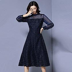 氣質格紋洋裝M-2XL 共二色-REKO