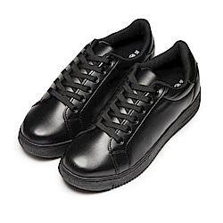 BuyGlasses 無印全素面皮面綁帶鞋-黑