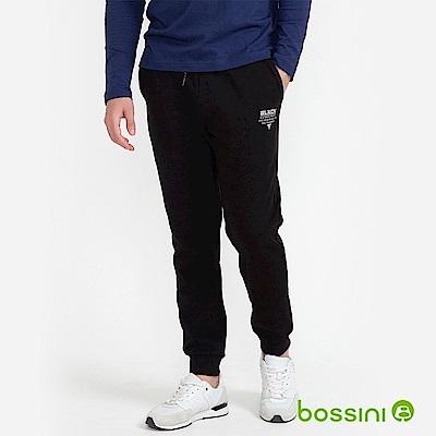bossini男裝-運動束口棉褲01黑