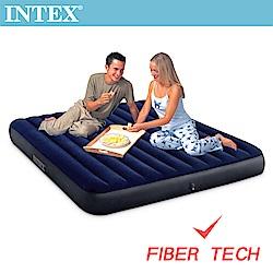 INTEX 經典雙人(新款FIBER TECH)充氣床-寬183cm(64755)