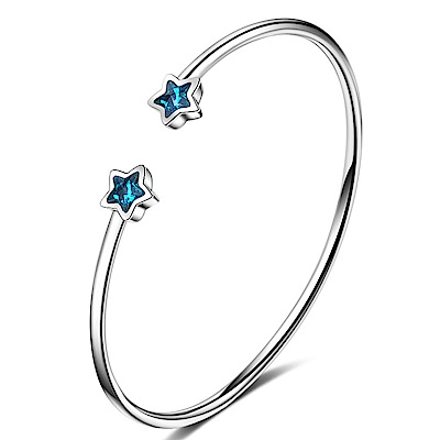 Angel 藍海之星水鑽彈性開口手環