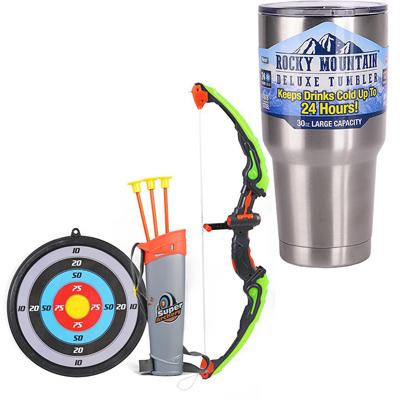 《小小羅賓漢》趣味兒童射箭遊戲發光弓箭靶組+冰霸杯組