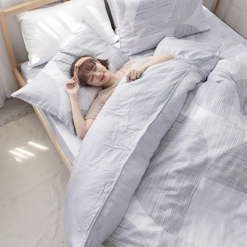 BUHO 100%TENCEL純天絲舖棉兩用被床包組-雙人特大(清謐夜思)