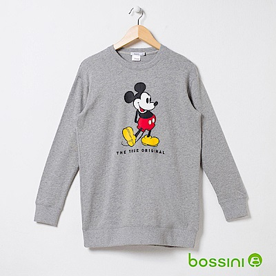 bossini女裝-米奇系列厚棉上衣01淺灰