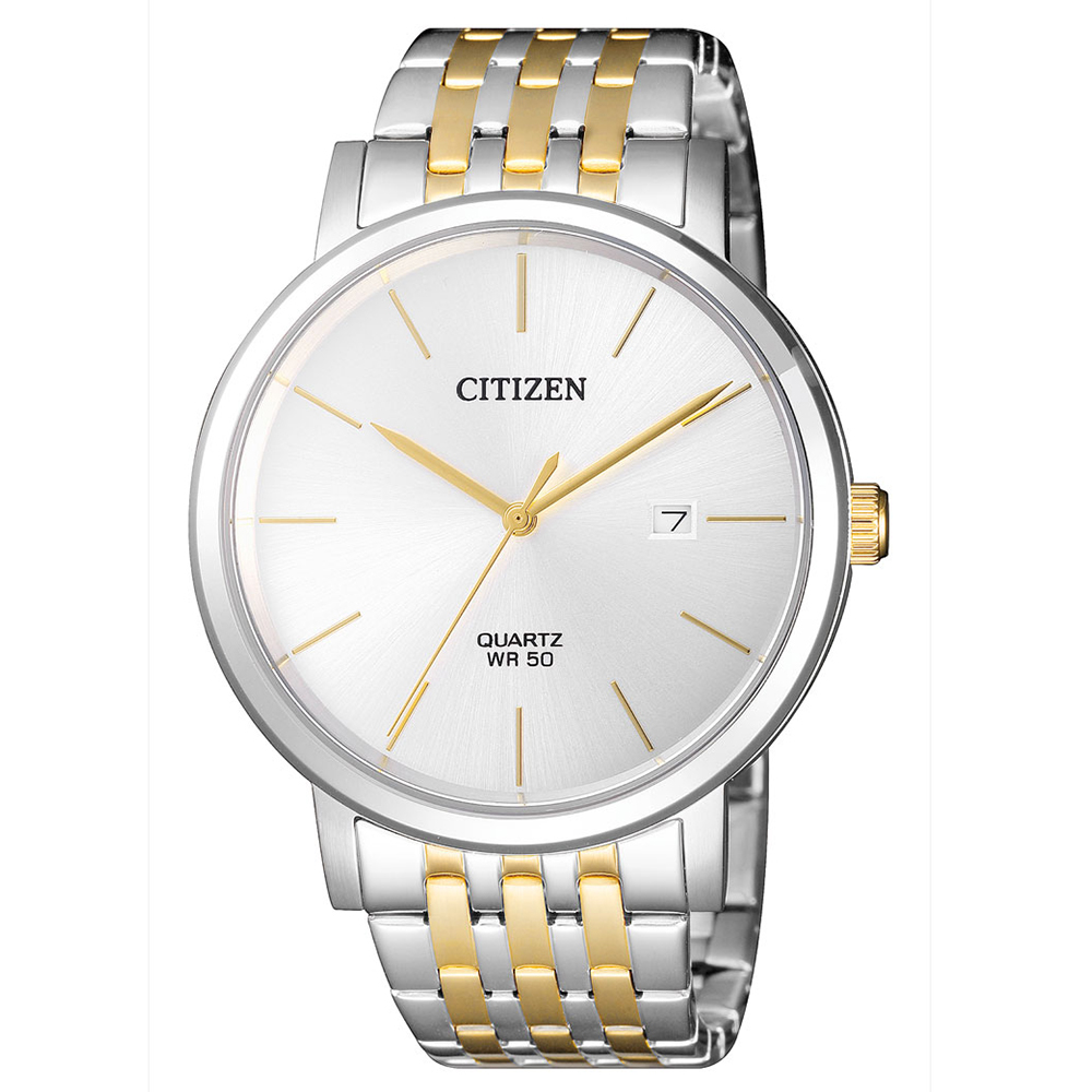 CITIZEN 皇極璽豪雙色調石英腕錶(BI5074-56A)-白x40mm @ Y!購物