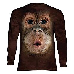 摩達客-美國進口The Mountain 可愛猩猩臉 純棉長袖T恤