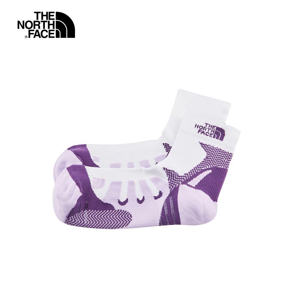 The North Face北面男女款紫色拼接舒適透氣運動襪|3RJED86
