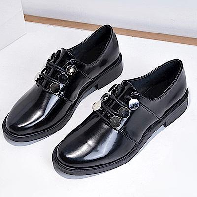 韓國KW美鞋館 時尚潮流歐美英倫皮鞋-黑色