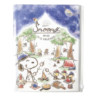 日本KAMIO文件夾鏈袋6分層文件資料夾文件袋Snoopy史努比CR50616