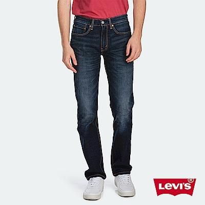 Levis 男款 514低腰合身直筒牛仔褲 深藍刷白 彈性布料