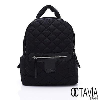 OCTAVIA 8 - 熱氣球 尼龍格紋鋪棉超輕筆電空氣後背包 - 羽量黑