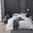 OLIVIA  solid 全白 加大雙人床包被套四件組 300織膠原蛋白天絲 台灣製