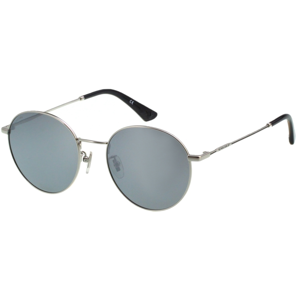 POLICE 水銀面 偏光 太陽眼鏡 (銀色)SPL866I