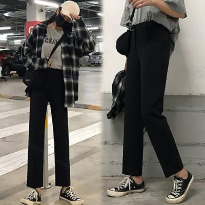 【韓國K.W.】(預購)韓時尚夏日必備好穿百搭寬褲-1色