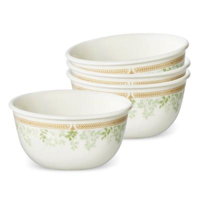 美國康寧 CORELLE 微風薄荷方盤餐碗4件組